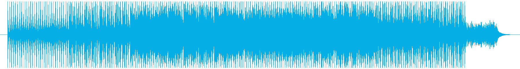 ミステリアスなテクノの再生済みの波形