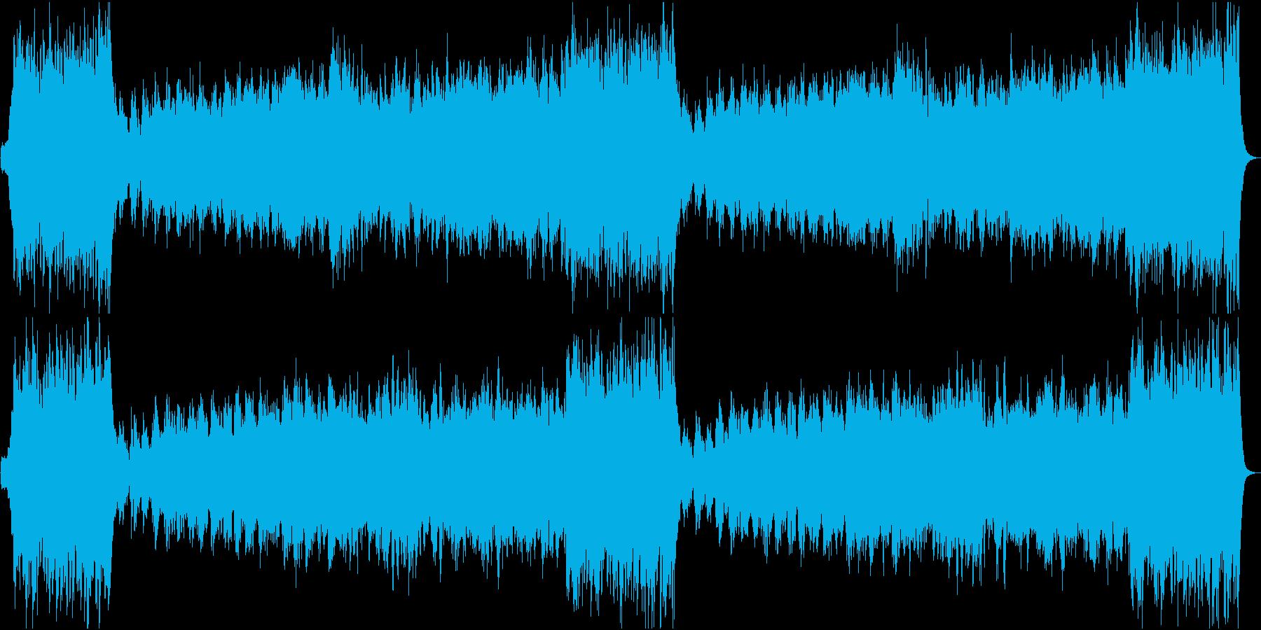 ファンファーレ+勇壮な行進曲・式典登退場の再生済みの波形