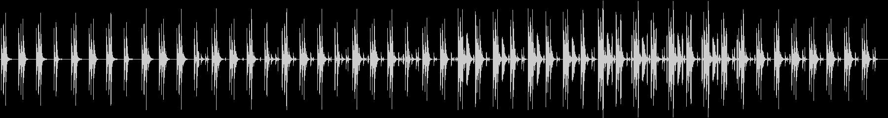 同じフレーズが繰り返される可愛らしい曲の未再生の波形