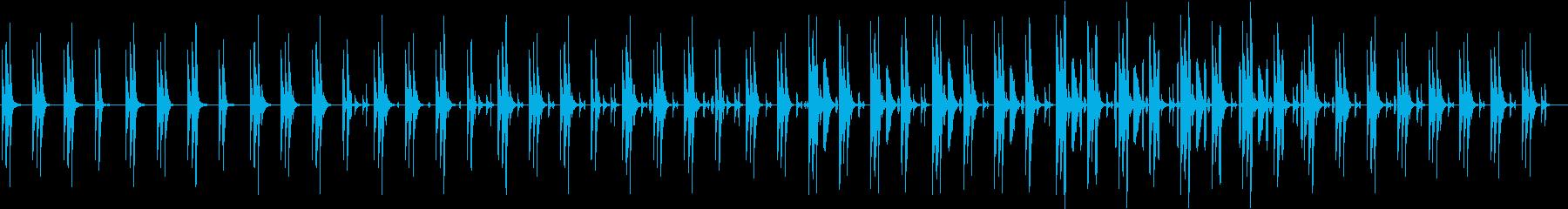 同じフレーズが繰り返される可愛らしい曲の再生済みの波形