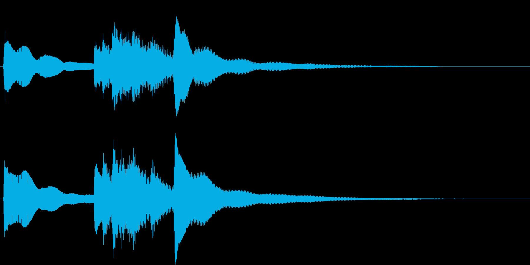 お正月の定番曲「春の海」から冒頭フレーズの再生済みの波形