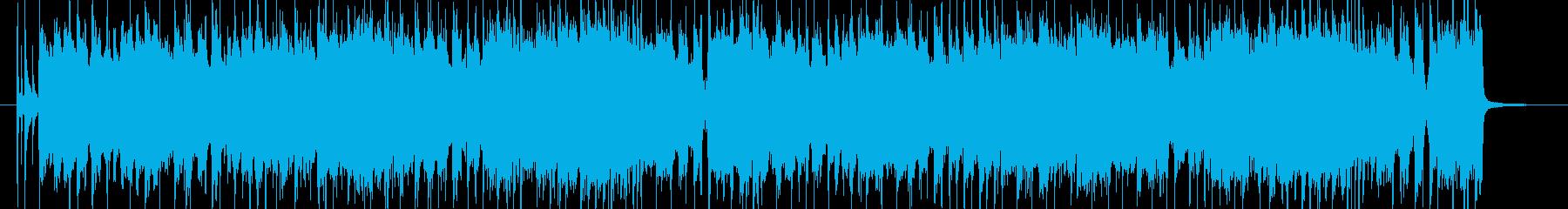 テキサス風のブルースロックですの再生済みの波形