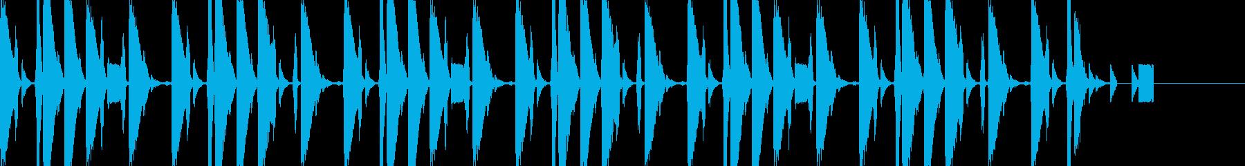 おしゃれなイントロBGMの再生済みの波形