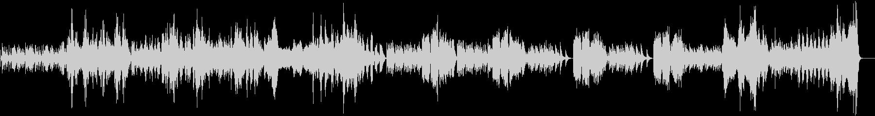 生演奏バロック風モーツァルトのソナタ2章の未再生の波形