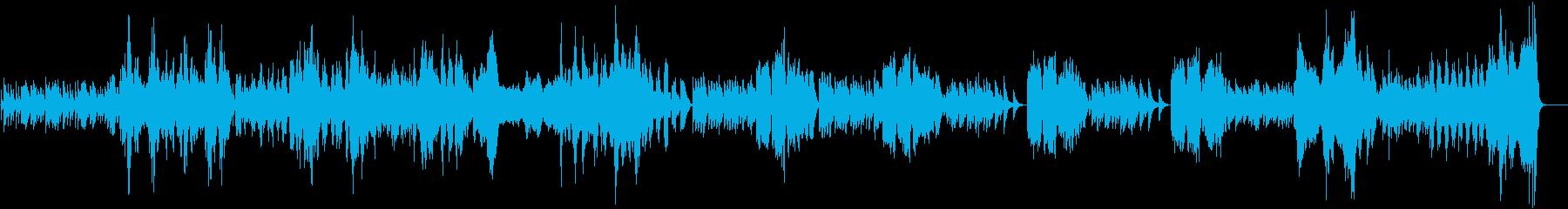 生演奏バロック風モーツァルトのソナタ2章の再生済みの波形