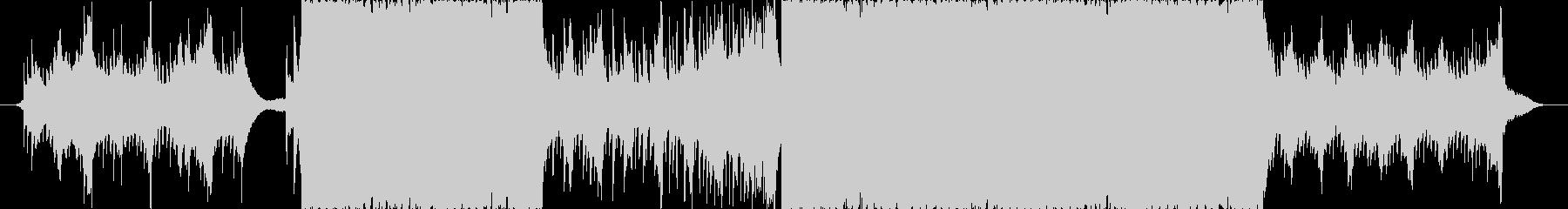 切なくて激しいピアノEDMの未再生の波形