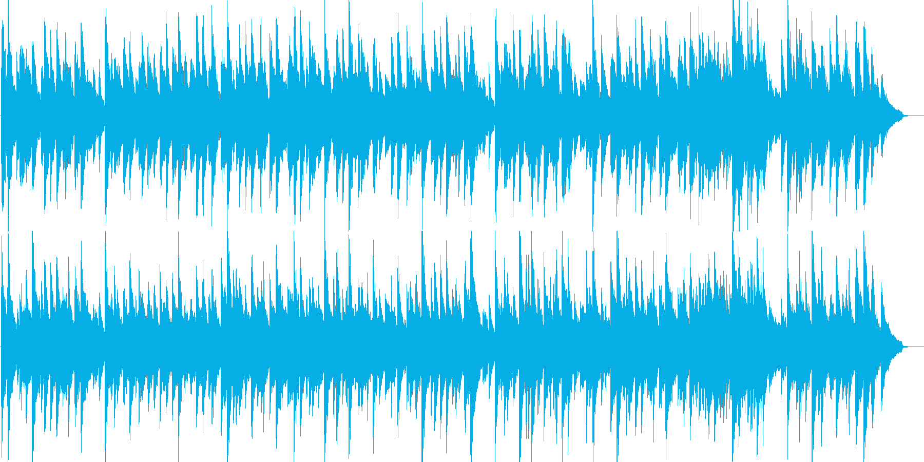 蛍の光・童謡・ピアノ・ストリングスの再生済みの波形