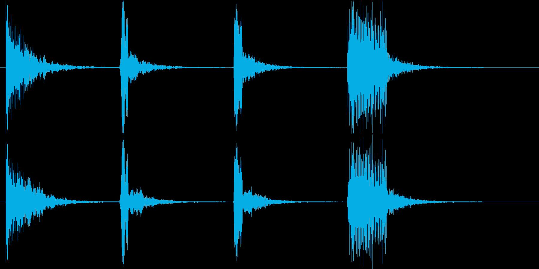 不思議な世界観を演出できる音の連なりの再生済みの波形