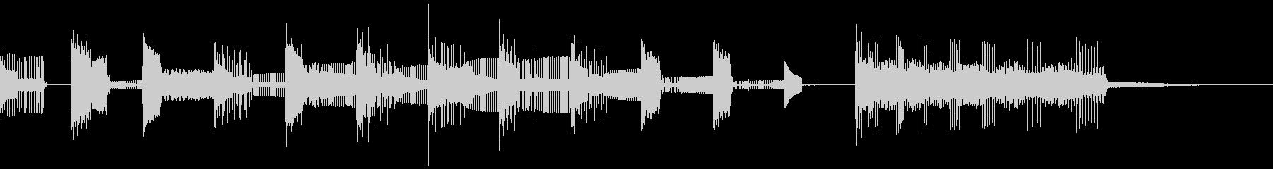 レトロゲーム風ジングル、サウンドロゴの未再生の波形