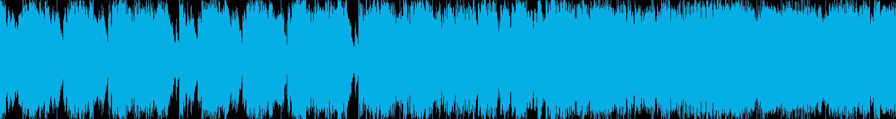ケルト音楽風行進曲ループ BGMの再生済みの波形