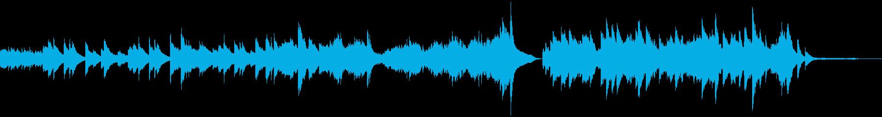 風をイメージした1分ちょうどのピアノソロの再生済みの波形