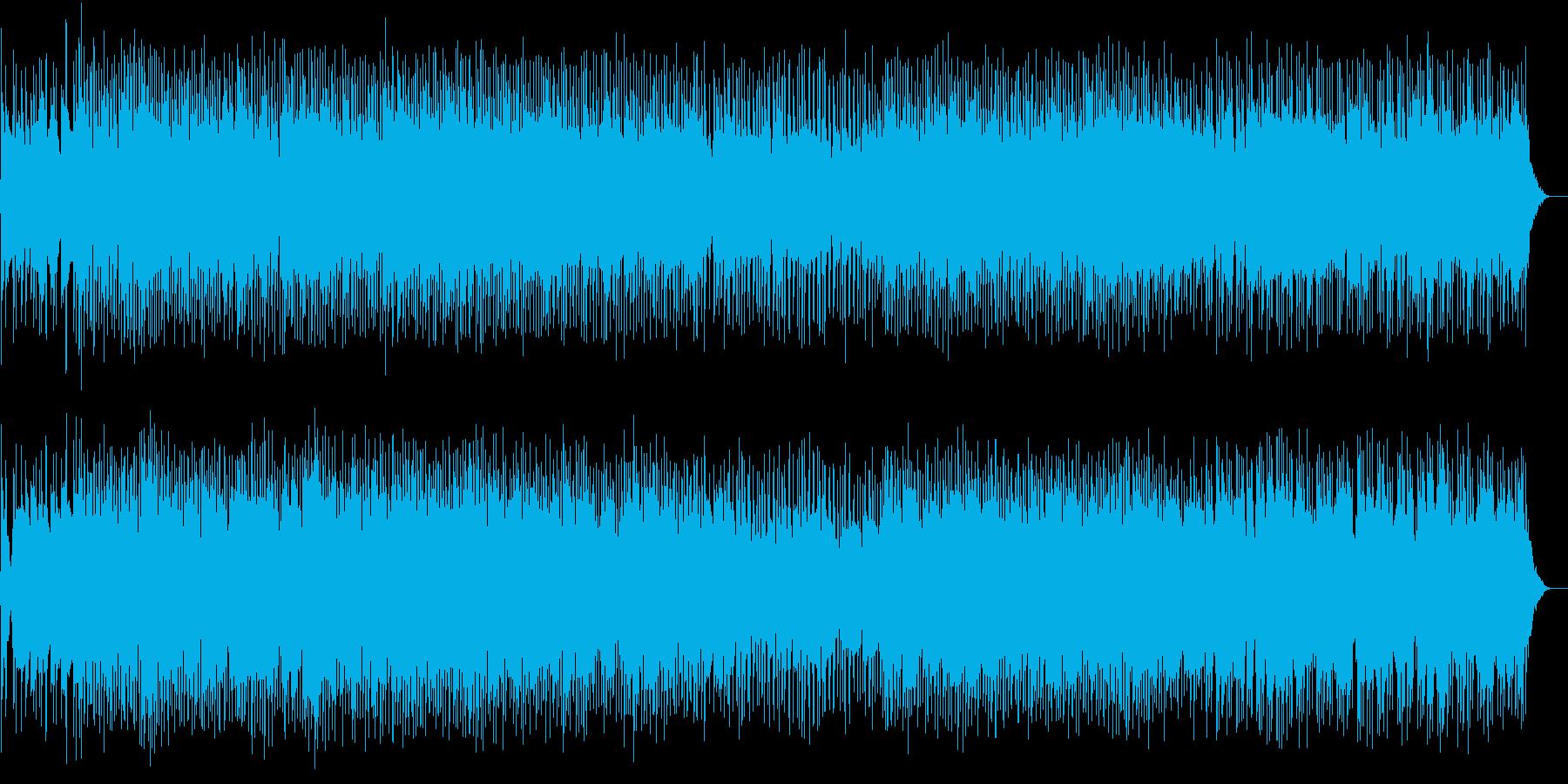 コミカルでのんびりとしたテクノの再生済みの波形