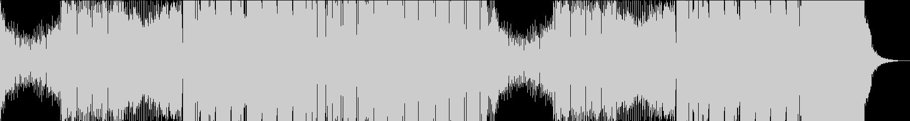 かなり激しく壊れるくらいハードなEDMの未再生の波形