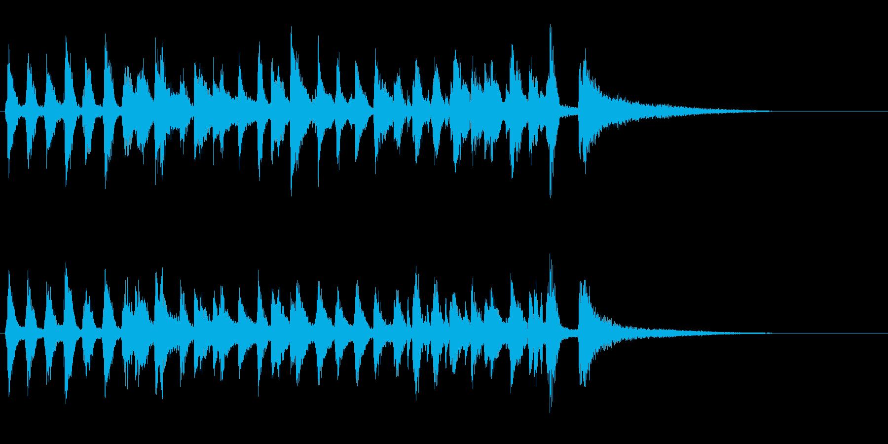 生演奏ジングルピアノ暗めラグタイムジャズの再生済みの波形