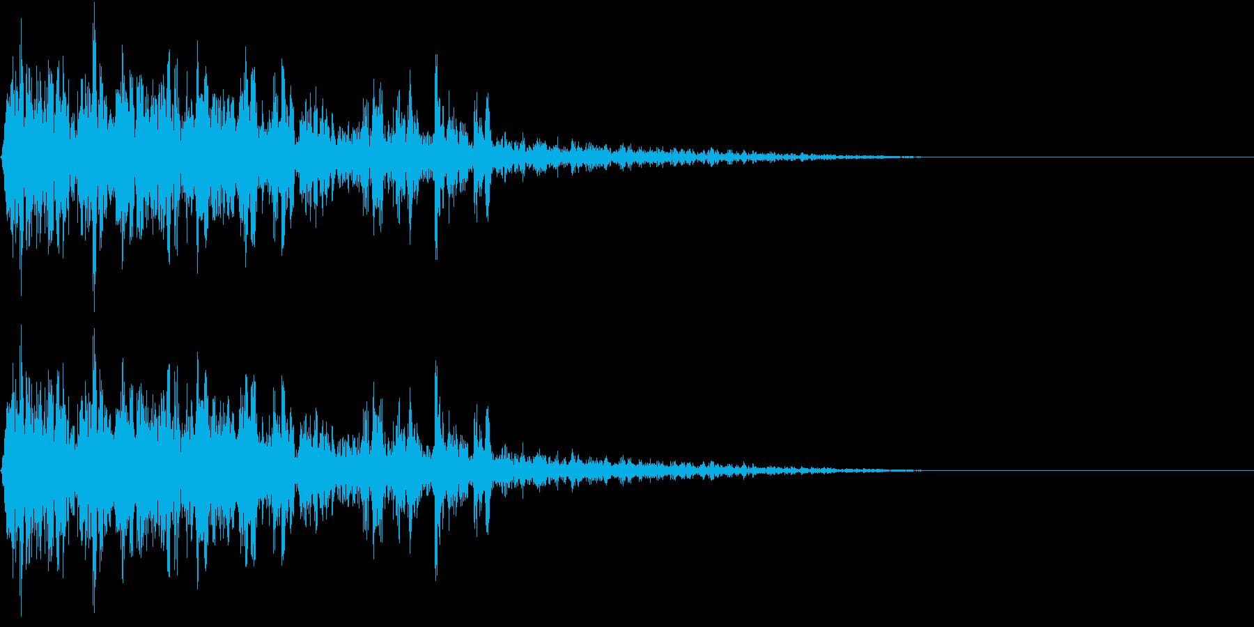 エンジン停止音の再生済みの波形