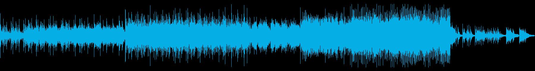 ピアノの旋律と緩やかテンポのバラードの再生済みの波形