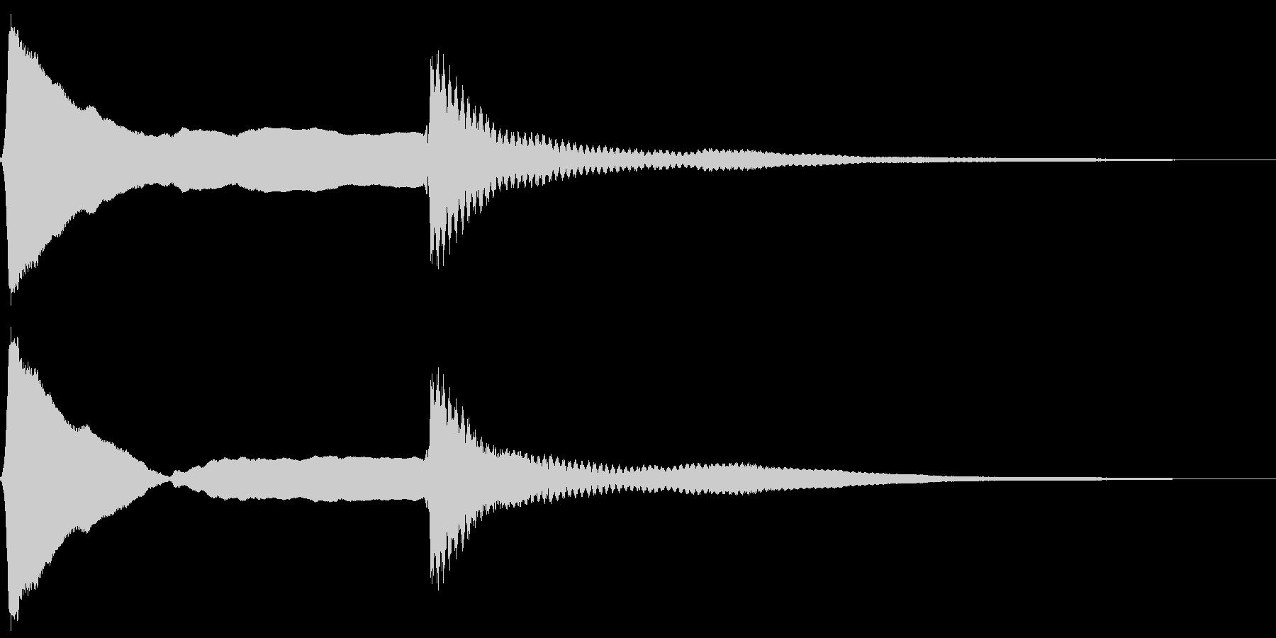 ピーンポーン。クイズ回答・正解音(高)の未再生の波形