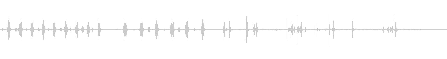 空手空手運動運動の未再生の波形