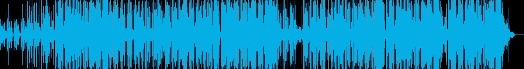 リズミカルなトロピカルハウス/夏曲BGMの再生済みの波形