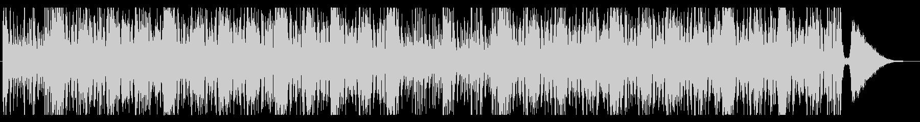 打楽器を多用した躍動感あるROCKの未再生の波形