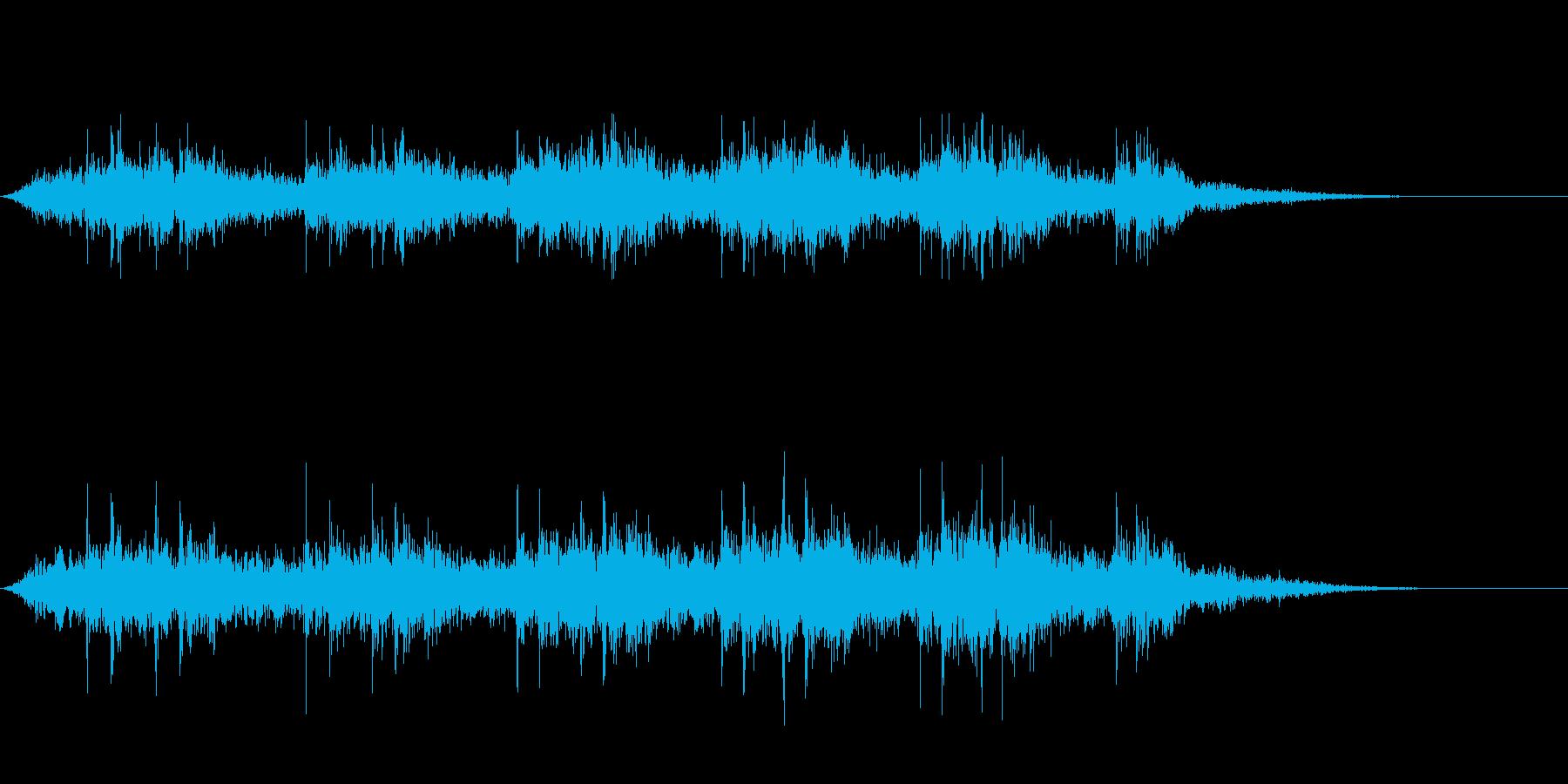 【生録音】 早朝の街 電車 環境音 22の再生済みの波形