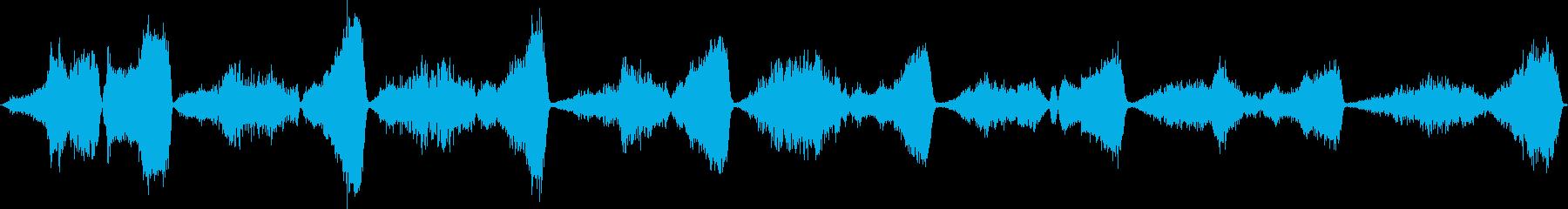 コブラの息とヒス。パースペクティブ...の再生済みの波形