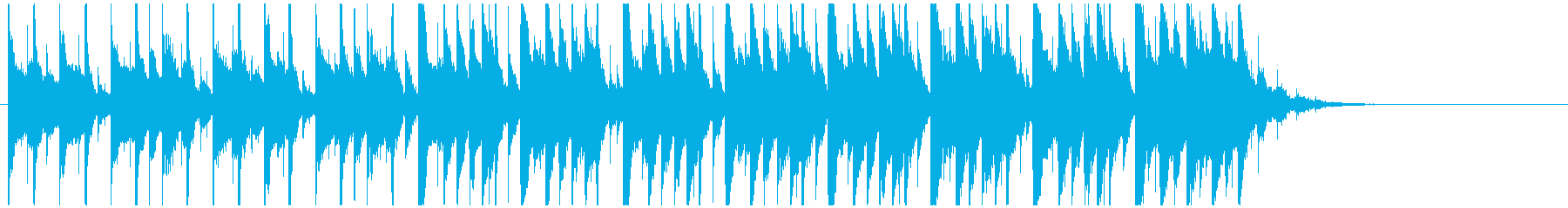 爽やかおしゃれピアノの再生済みの波形