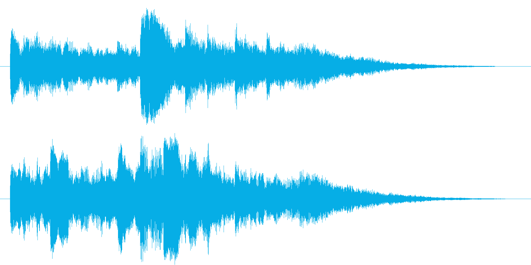 澄んだ空気のインスピレーション映像ロゴの再生済みの波形