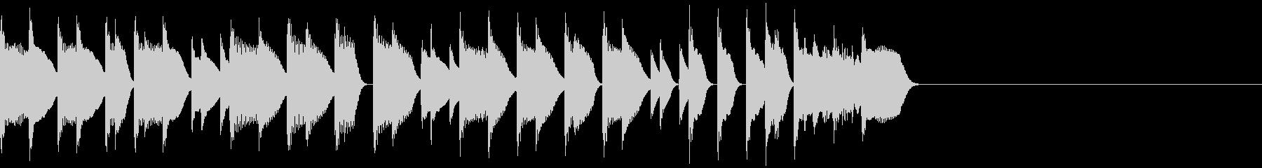 ほのぼのとしたピアノのジングル2の未再生の波形