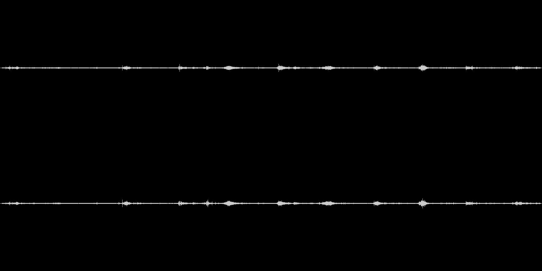 【生音】砂利道の足音(ジャリジャリジャ…の未再生の波形