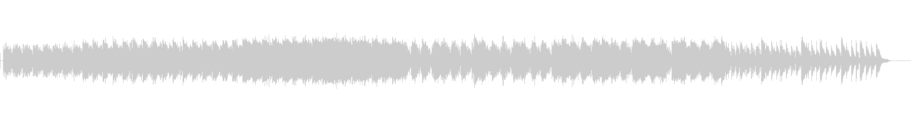 アンビエントピアノを使った幻想的な曲の未再生の波形