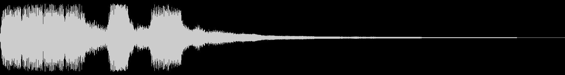 コミカル、レトロなゲームオーバー音の未再生の波形