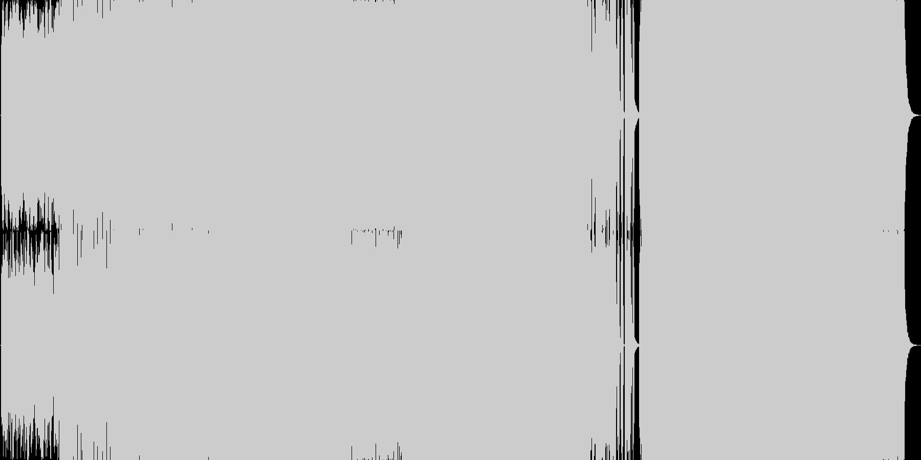 映像・テレビBGM向けEDMの未再生の波形