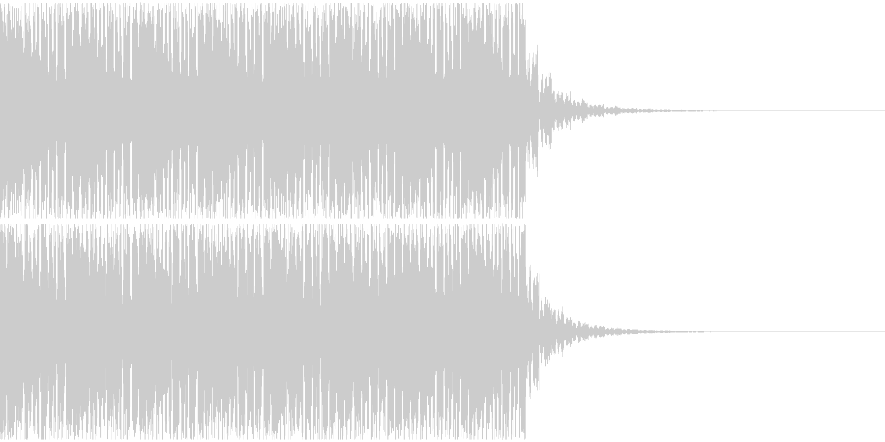 【EDM】20秒、ジングル3の未再生の波形