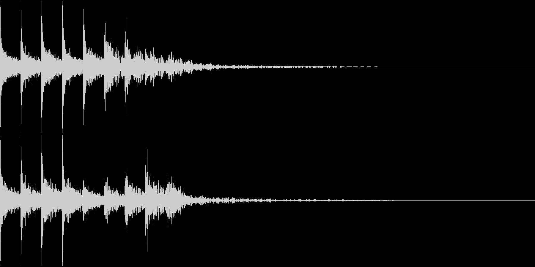 タム回し/低音へ/ドラムフィル/1の未再生の波形