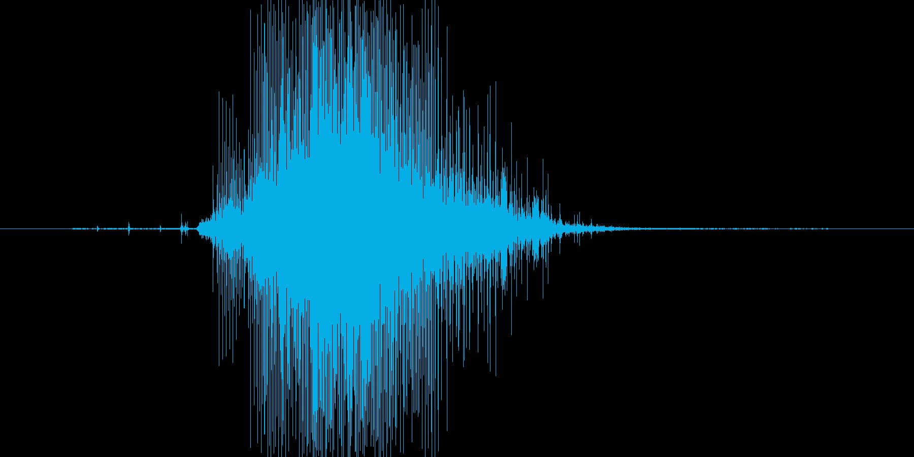 (おばけが驚く声)の再生済みの波形