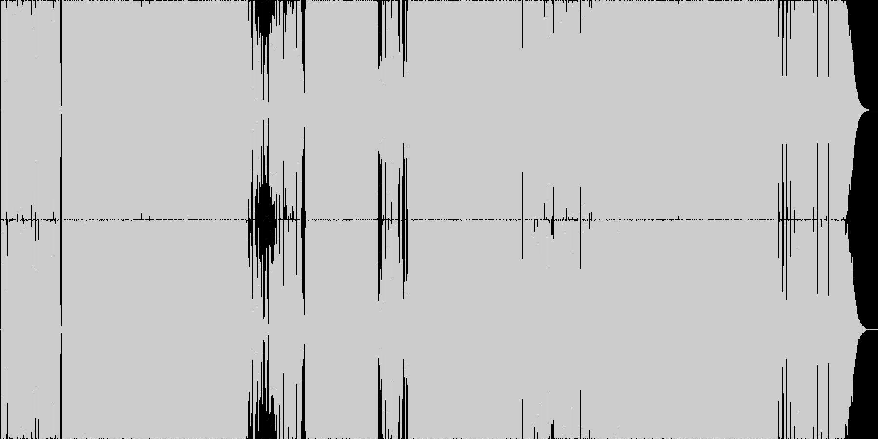 エッジの効いたロック Ver2の未再生の波形
