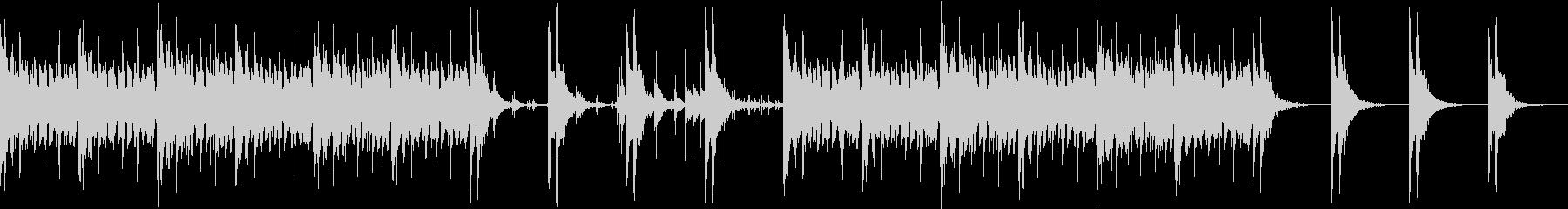 三味線のロック ミドルテンポの未再生の波形
