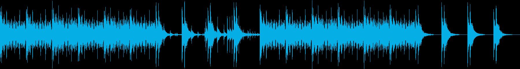三味線のロック ミドルテンポの再生済みの波形