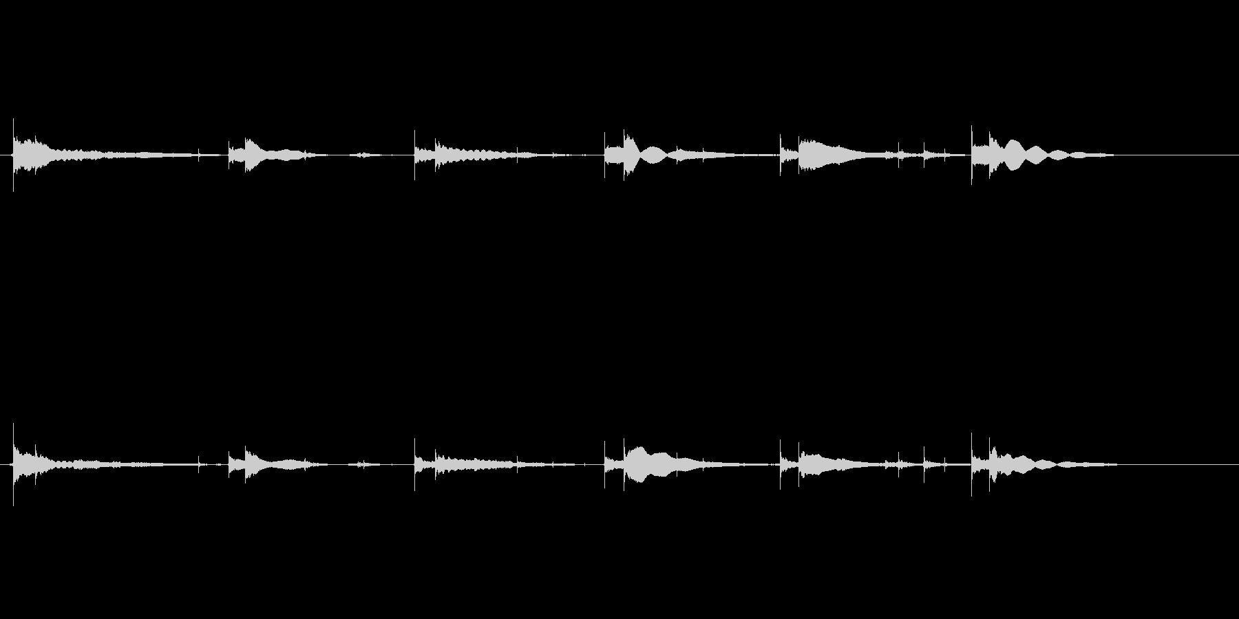 生音エレキギター65弦チューニングエコーの未再生の波形