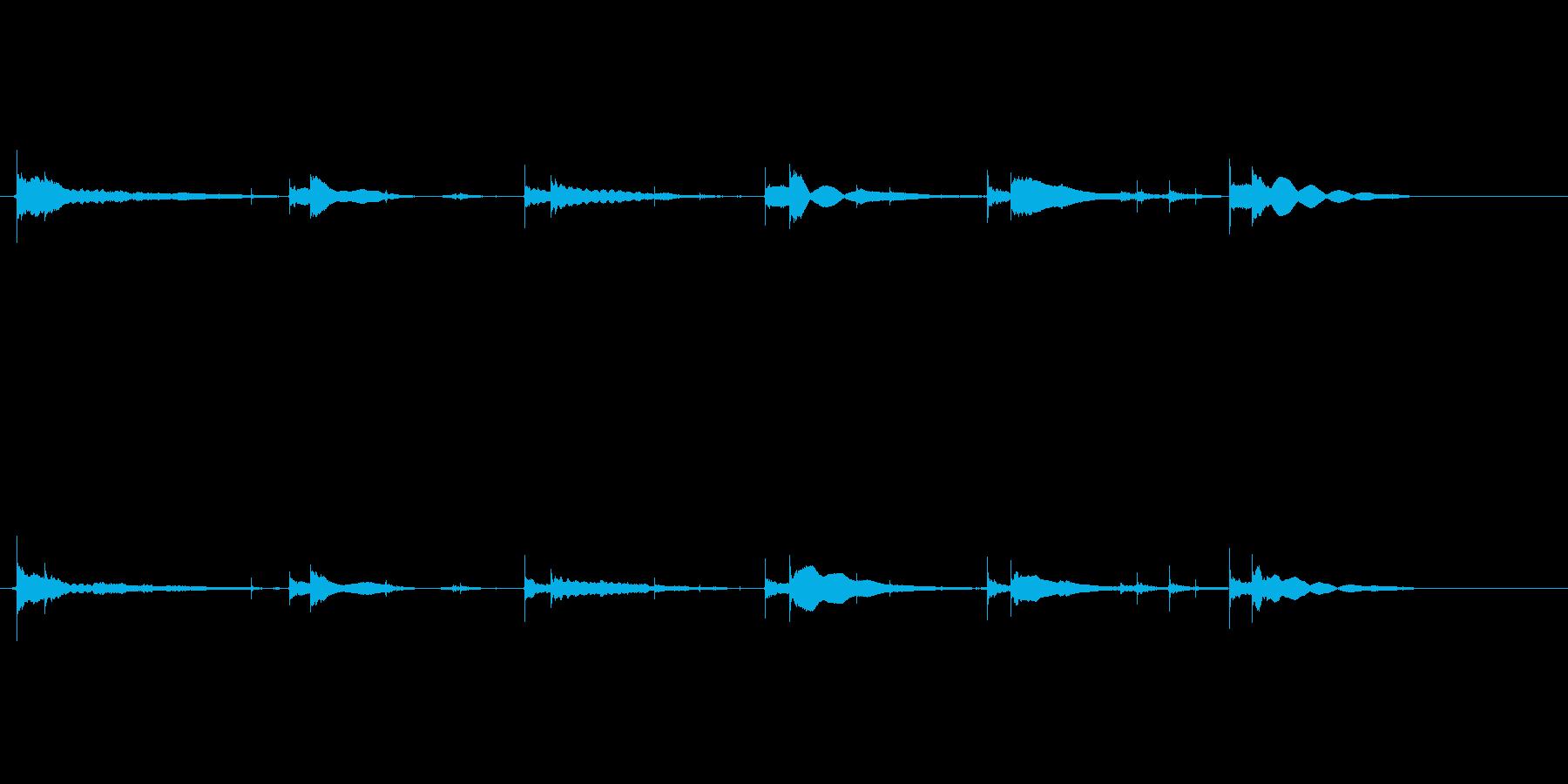生音エレキギター65弦チューニングエコーの再生済みの波形