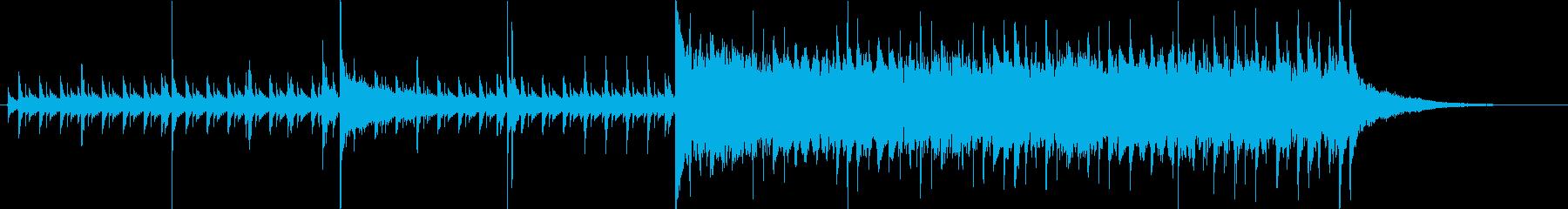 30秒・高速ジャズ・ドラムとウッドベースの再生済みの波形