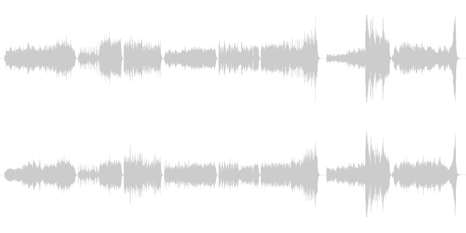 アメージンググレイスのオーケストラ変奏曲の未再生の波形