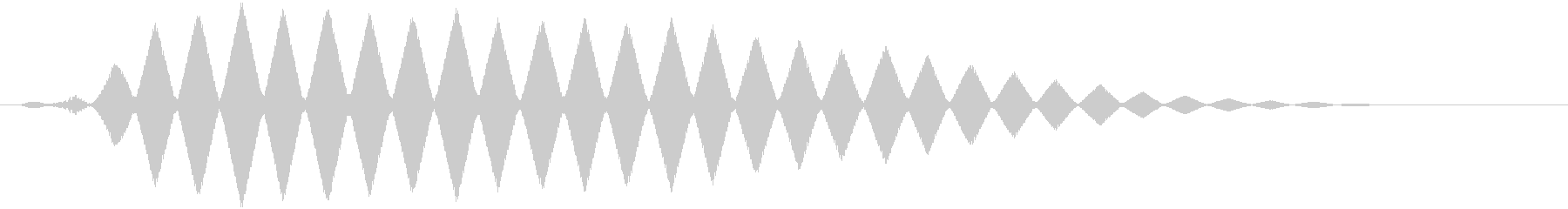 フクロウの鳴き声 フルルルルの未再生の波形