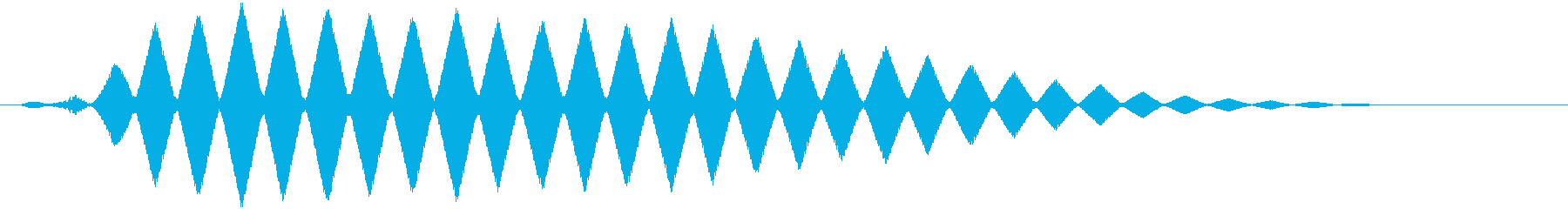 フクロウの鳴き声 フルルルルの再生済みの波形