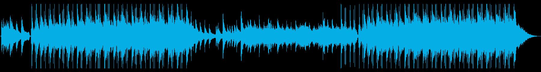 俯瞰で眺める様なサイケで幻想的な楽曲の再生済みの波形