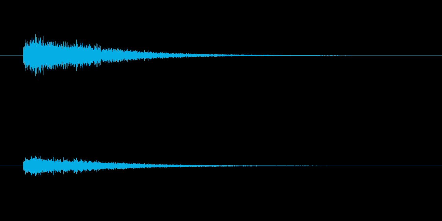 「シャーン」という優しめに叩いたシンバルの再生済みの波形