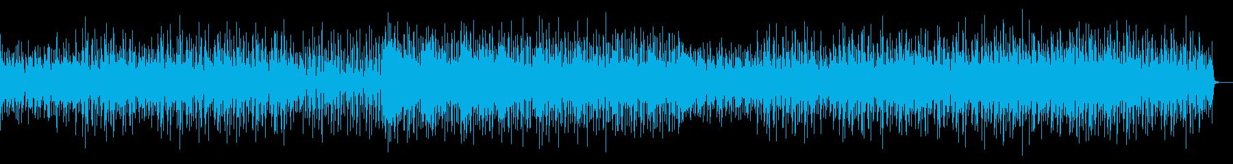 リズム良く楽しさを演出するテクノサウンドの再生済みの波形