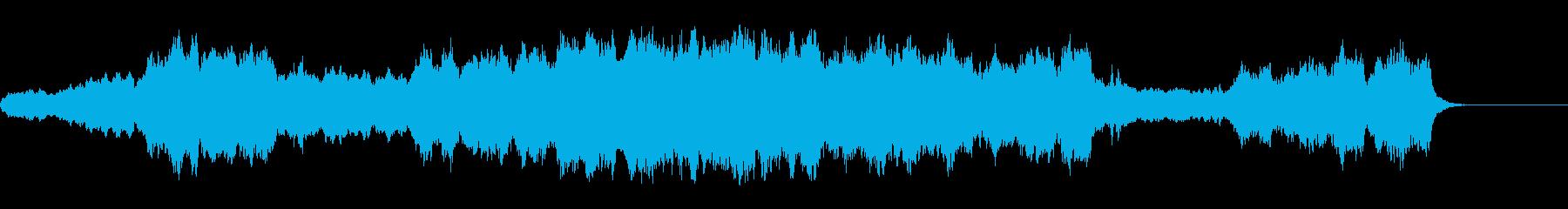 静かで感動的な場面のストリングス曲の再生済みの波形