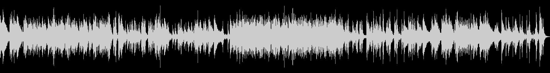 アップテンポなジャズピアノトラックの未再生の波形